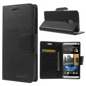 HTC Desire 700 - etui na telefon i dokumenty - Sonata czarne