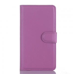 LG Zero H650 - etui na telefon i dokumenty - Litchi purpurowe