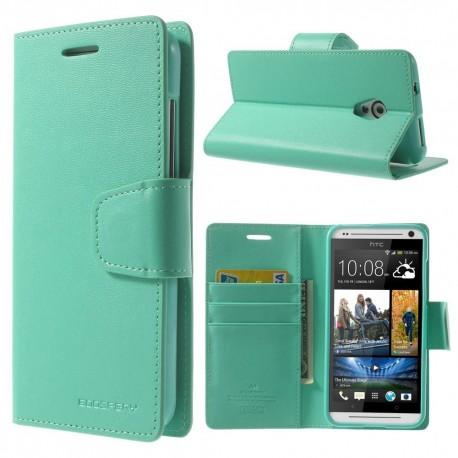HTC Desire 700 - etui na telefon i dokumenty - Sonata cyjan