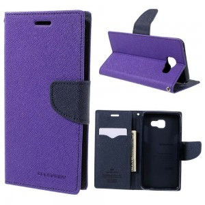 Samsung Galaxy A5 (2016) - etui na telefon i dokumenty - Fancy purpurowe