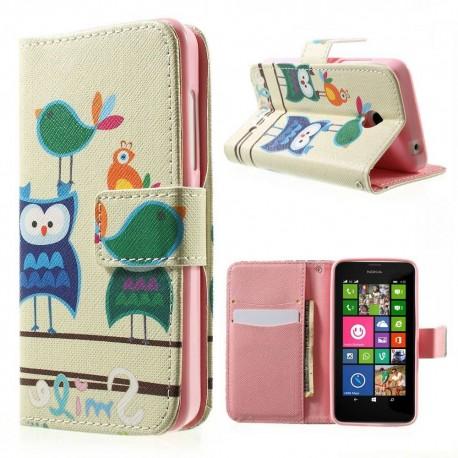 Nokia Lumia 630 / 635 - etui na telefon i dokumenty - Sowy 1