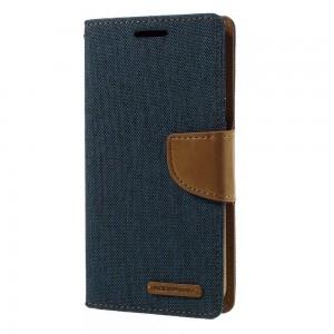 Samsung Galaxy S7 - etui na telefon i dokumenty - Canvas niebieskie