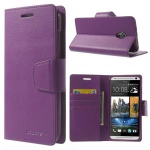 HTC Desire 700- etui na telefon i dokumenty - Sonata purpurowe