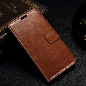 Microsoft Lumia 550 - etui na telefon i dokumenty - CH brązowe