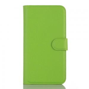 Microsoft Lumia 550 - etui na telefon i dokumenty - Litchi zielone