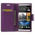 HTC Desire 700 Portfel Etui – Sonata Purpurowy