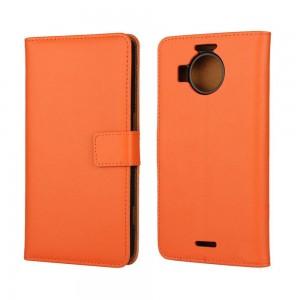 Microsoft Lumia 950 XL - etui na telefon i dokumenty - pomarańczowe