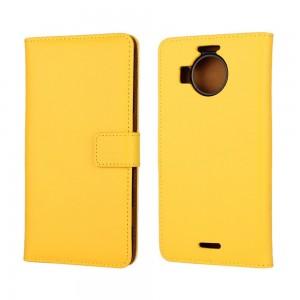 Microsoft Lumia 950 XL - etui na telefon i dokumenty - żółte