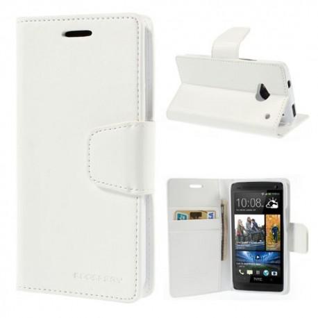 HTC One M7 - etui na telefon i dokumenty - Sonata białe