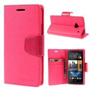 HTC One M7 - etui na telefon i dokumenty - Sonata ciemnoróżowe