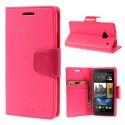 HTC One M7 Portfel Etui – Sonata Ciemny Różowy