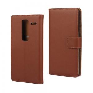 LG Zero H650 - etui na telefon i dokumenty - brązowe