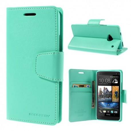 HTC One M7 - etui na telefon i dokumenty - Sonata cyjan