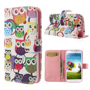 Samsung Galaxy S4 - etui na telefon i dokumenty - Sowy 2