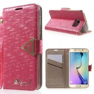 Samsung Galaxy S6 Edge - etui na telefon i dokumenty - Leiers Eternal ciemnoróżowe