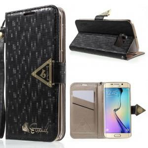 Samsung Galaxy S6 Edge - etui na telefon i dokumenty - Leiers Eternal czarne