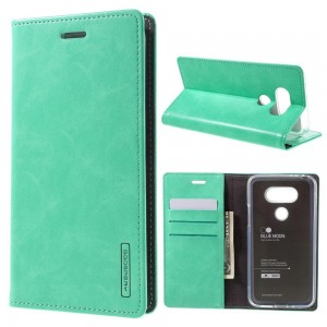 LG G5 H850 - etui na telefon i dokumenty - Blue Moon cyjan