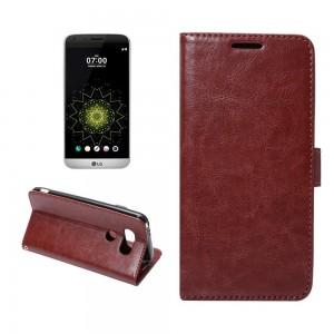 LG G5 H850 - etui na telefon i dokumenty - Crazy Horse brązowe