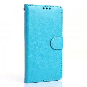 LG G5 H850 - etui na telefon i dokumenty - Crazy Horse niebieskie