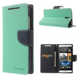 HTC Desire 610 - etui na telefon i dokumenty - Fancy cyjan