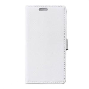 Huawei P9 Lite - etui na telefon i dokumenty - Litchi białe