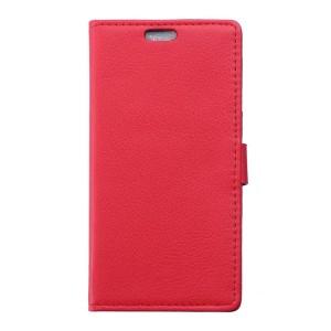 Huawei P9 Lite - etui na telefon i dokumenty - Litchi czerwone