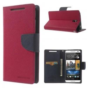 HTC Desire 610 - etui na telefon i dokumenty - Fancy ciemnoróżowe