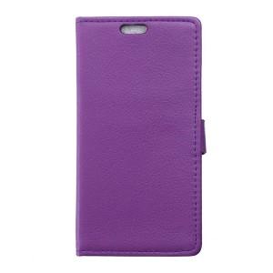 Huawei P9 Lite - etui na telefon i dokumenty - Litchi purpurowe