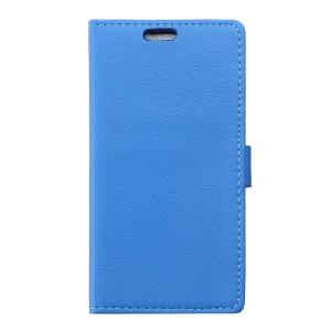 Huawei P9 Lite - etui na telefon i dokumenty - Litchi niebieskie