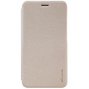 Huawei Y6 Pro - etui na telefon i dokumenty - Nillkin Sparkle złote