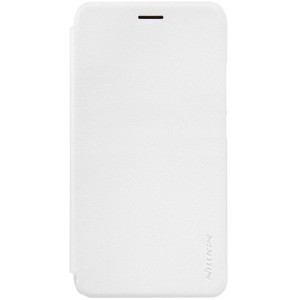 Huawei Y6 Pro - etui na telefon i dokumenty - Nillkin Sparkle białe