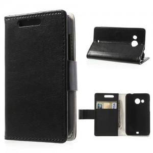 HTC Desire 200 - etui na telefon i dokumenty - CH czarne