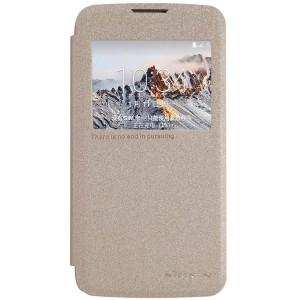 LG K4 4G - etui na telefon i dokumenty - Sparkle złote