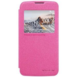 LG K4 4G - etui na telefon i dokumenty - Sparkle różowe