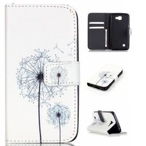 LG K4 4G - etui na telefon i dokumenty - dmuchawiec