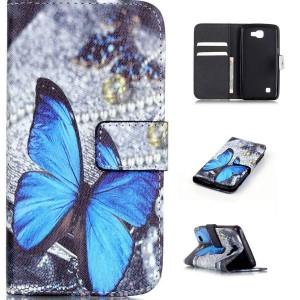 LG K4 4G - etui na telefon i dokumenty - Motyl