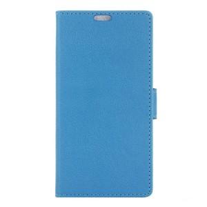 LG K8 4G - etui na telefon i dokumenty - niebieskie