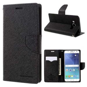 Samsung Galaxy J5 (2016) - etui na telefon i dokumenty - Fancy czarne
