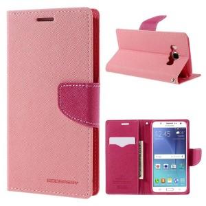 Samsung Galaxy J5 (2016) - etui na telefon i dokumenty - Fancy różowe