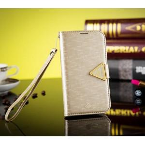 Samsung Galaxy S3 - etui na telefon i dokumenty - Leiers złote