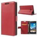 Huawei Ascend Y530 Portfel Etui – Litchi Czerwony