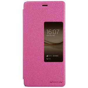 Huawei P9 Plus - etui na telefon i dokumenty - Nillkin Sparkle różowe