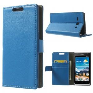 Huawei Ascend Y530 - etui na telefon i dokumenty - Litchi niebieskie