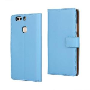 Huawei P9 Plus - etui na telefon i dokumenty - niebieskie