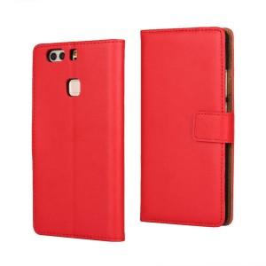 Huawei P9 Plus - etui na telefon i dokumenty - czerwone