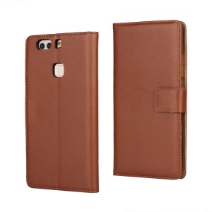 Huawei P9 Plus - etui na telefon i dokumenty - brązowe