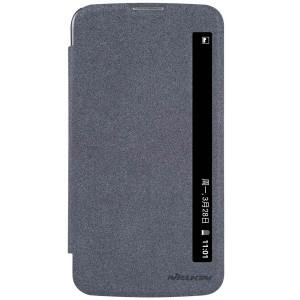 LG K10 4G - etui na telefon i dokumenty - Nillkin Sparkle czarne