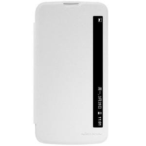 LG K10 4G - etui na telefon i dokumenty - Nillkin Sparkle białe