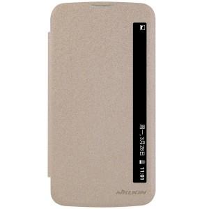 LG K10 4G - etui na telefon i dokumenty - Nillkin Sparkle złote
