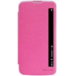 LG K10 4G - etui na telefon i dokumenty - Nillkin Sparkle różowe